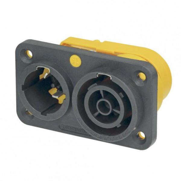 NEUTRIK PowerCon, IP65 , 3-pol , Kunststoff-Einbaustecker, gerade, max. 2,5 mm²