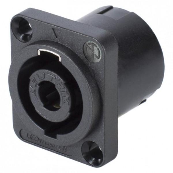 NEUTRIK SpeakON, 4-pol , Kunststoff-, Printtechnik vertikal-Einbaustecker, versilberte(r) Kontakt(e)