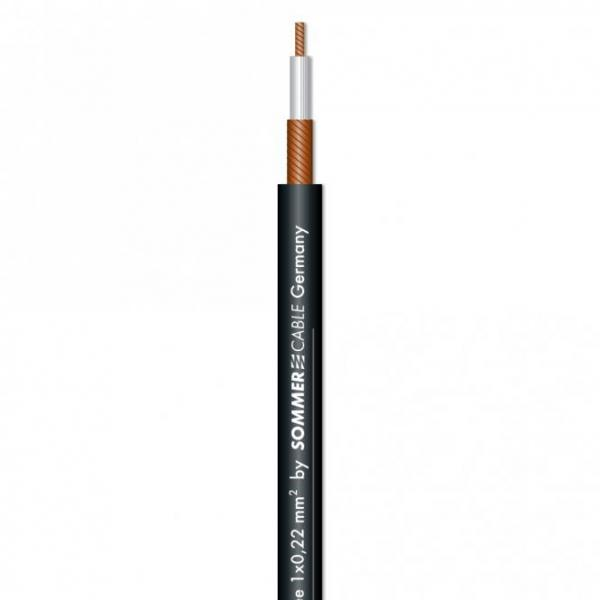Sommer Cable SC-TYNEE unsymetrisch Patchcable 1x0,22qmm, schwarz
