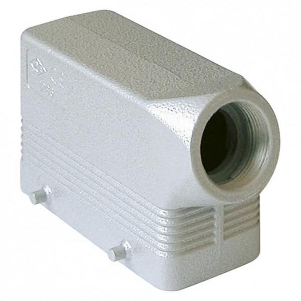 ILME Rechteck-MP 16, Metall-, Tüllengehäuse, 4 Bolzen, grau